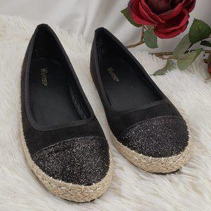 Comfy Stylish Black Flats NIB